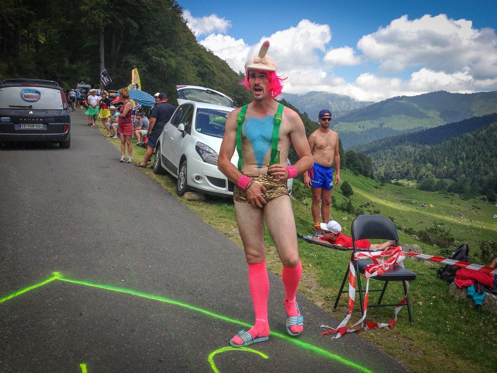 The Tour de France certainly attracts some colourful characters.