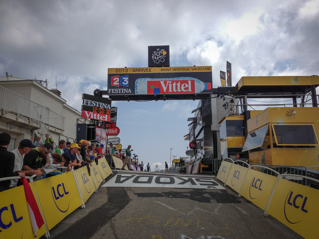 The final kick to the finish line at Mont Ventoux.