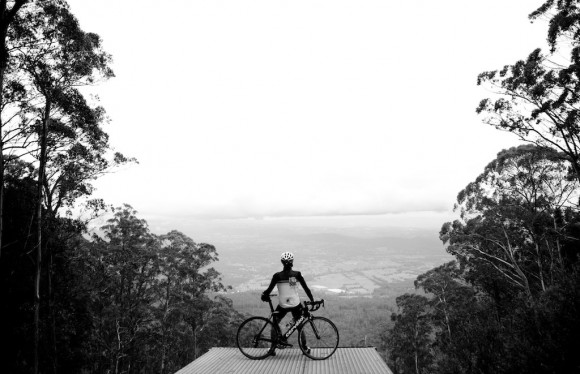 The hangliding ramp a few kilometres from the summit of Mt. Donna Buang.