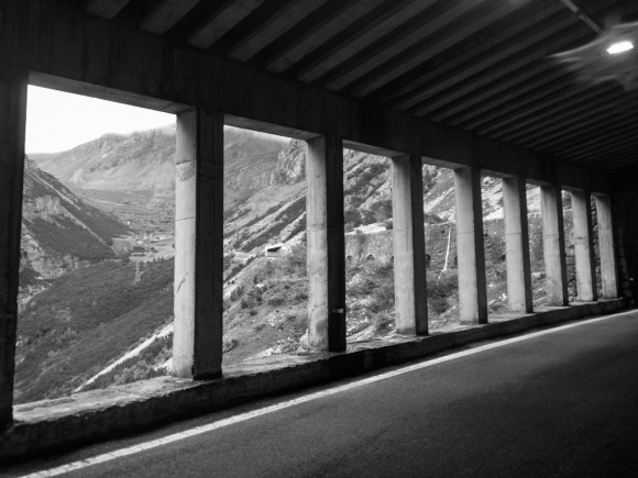 Galleries on the Stelvio.