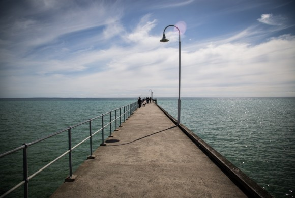 Looking down the Dromana Pier.