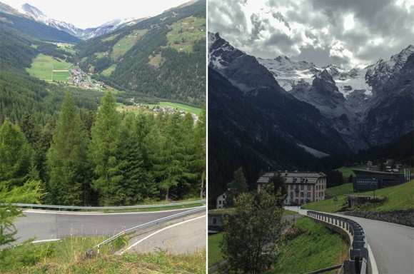 Left: Switzerland! Right: Our mountain home.