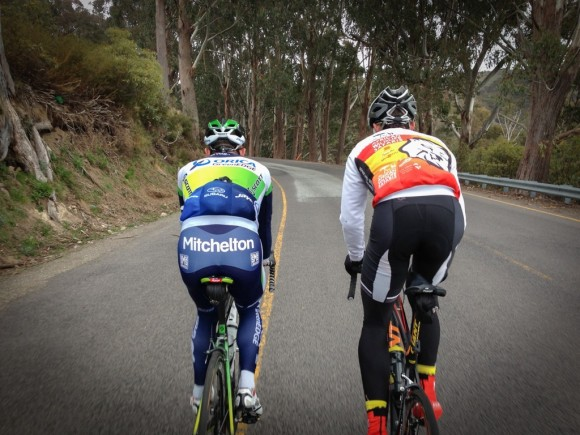 Simon Gerrans and Nick Squillari.