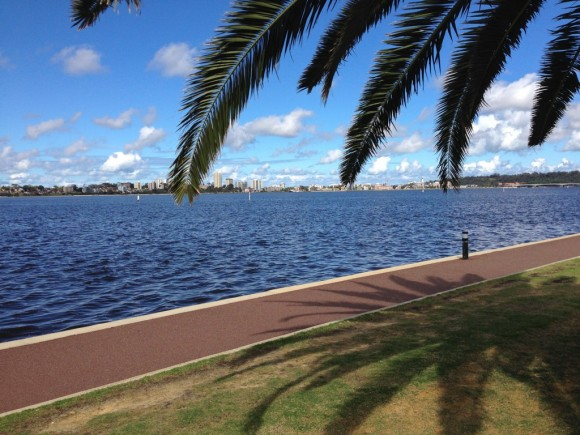 The Swan River in Perth.