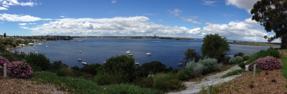 Panoramic view of the Swan River.