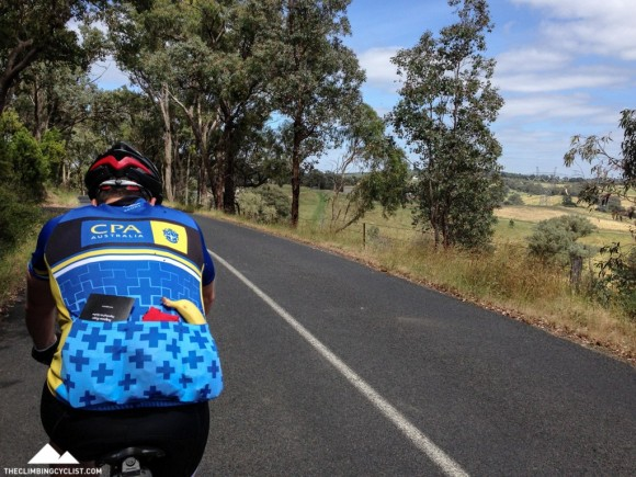 Following Rohan through the rolling hills around Kangaroo Ground.