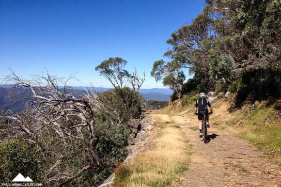 Brendan makes his way back towards Mt. Buller on the Village Trail.