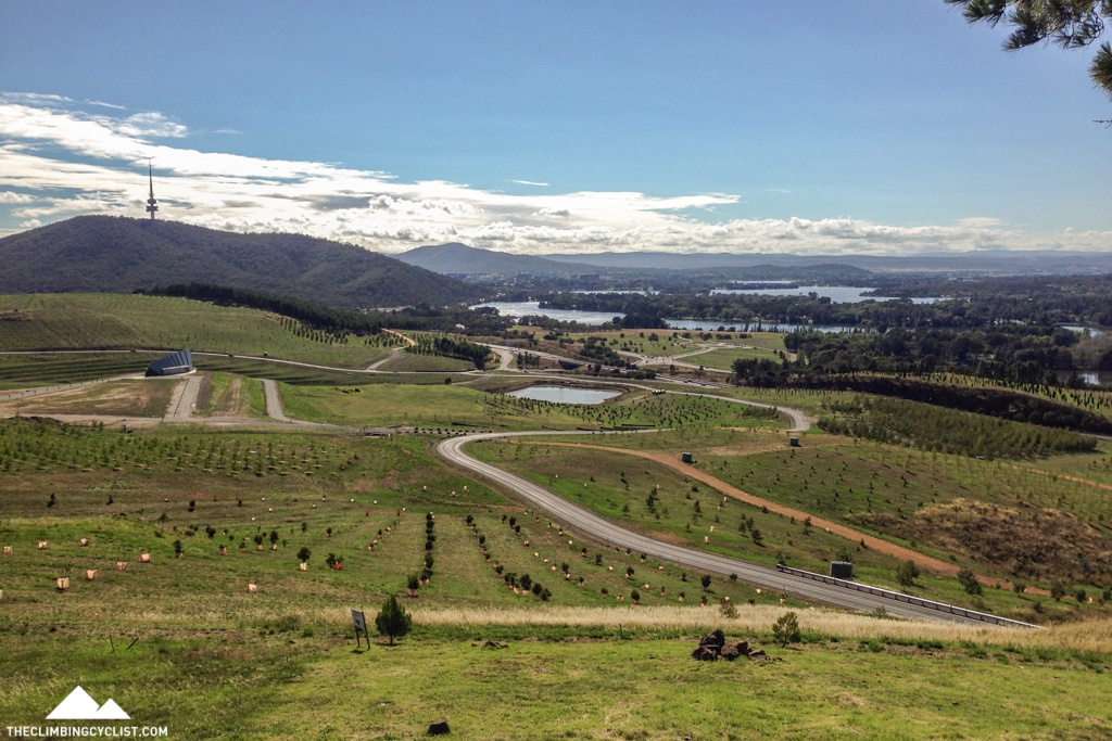 View over the National Arboretum from Dairy Farmers Hill.