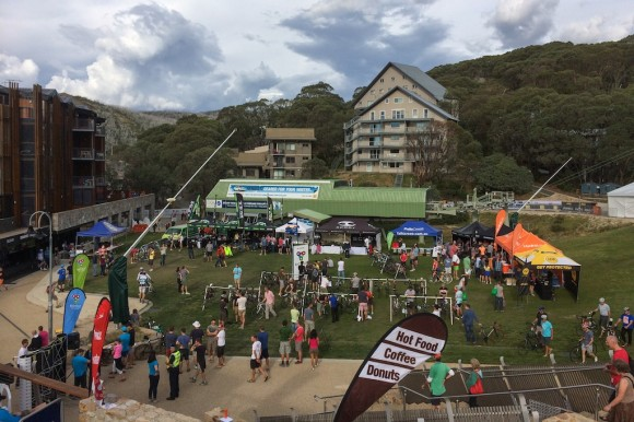 The 3 Peaks event village at Falls Creek.