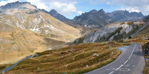 The views mid-way up the Col du Galibier.