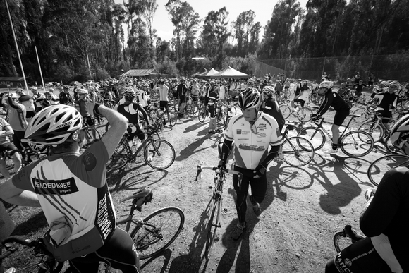 At the start of last year's Lake Mountain ride. (Image: Kirsten Simpson)