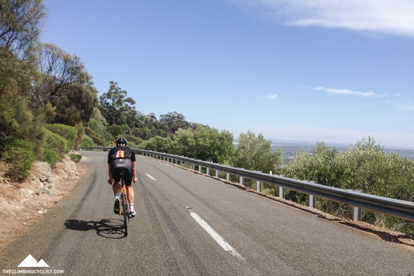 Descending Norton Summit with CyclingTips founder Wade Wallace.
