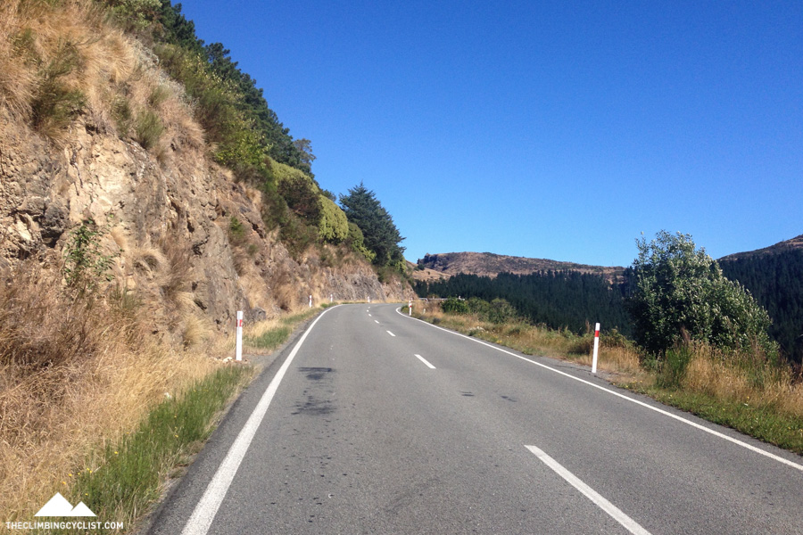 The flatter second half of the Dyers Pass climb.