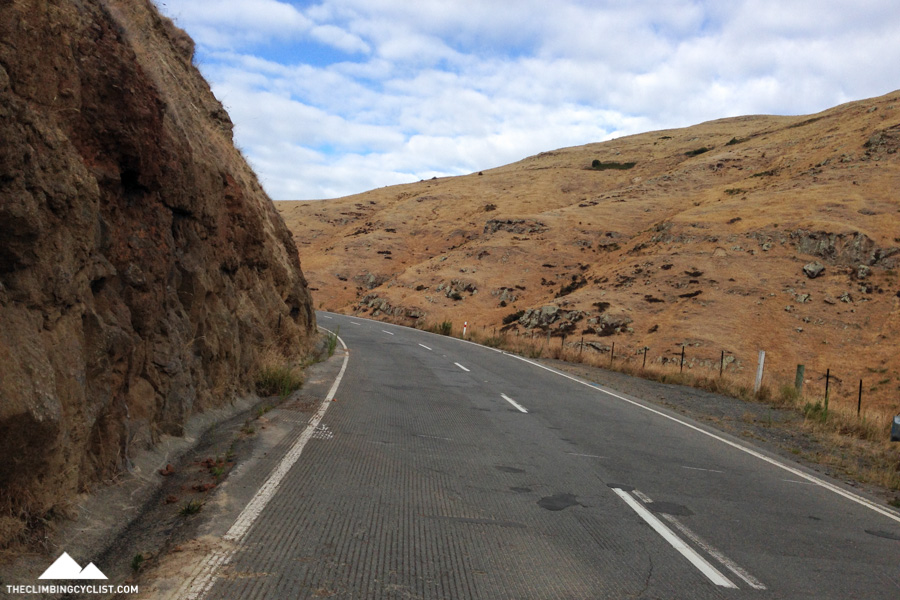 Climbing Evans Pass.