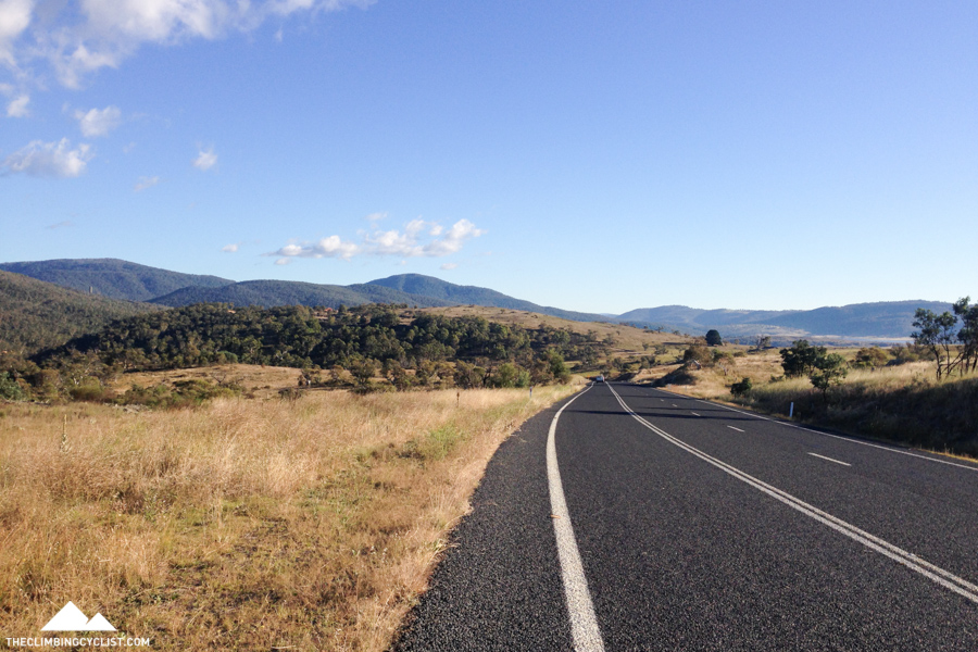 Approaching the Thredbo River and the start of the main climb.