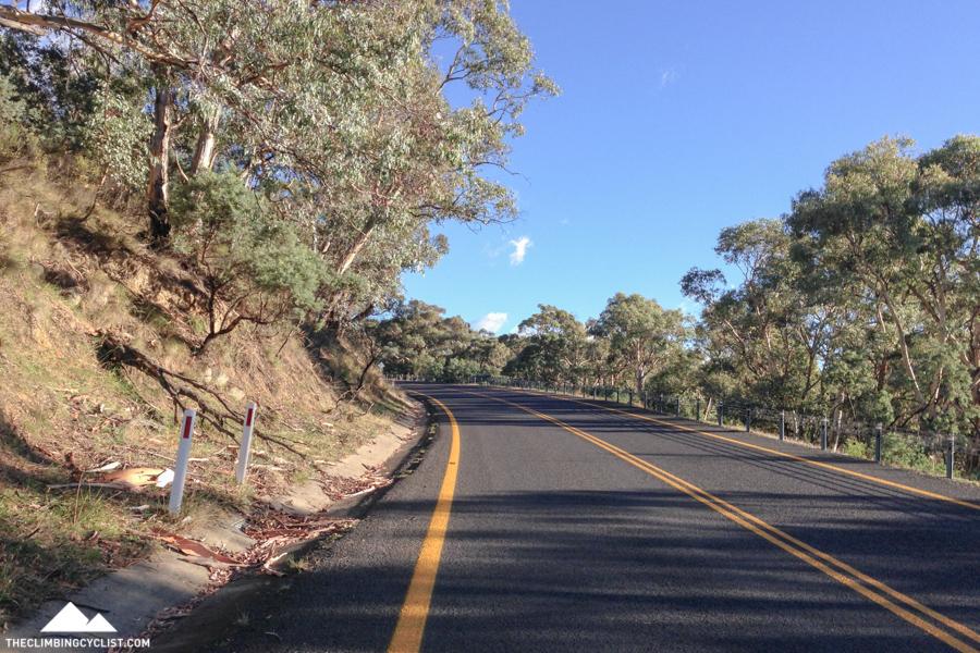 On the 13km climb.
