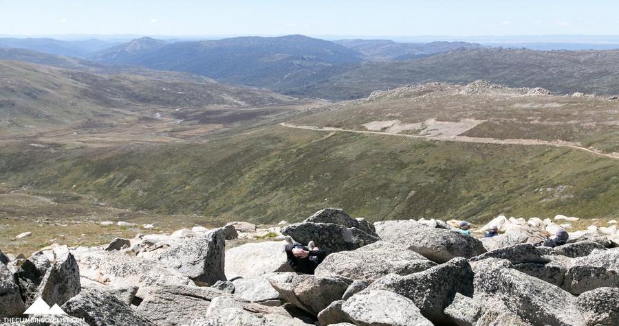 Dad kicks back and enjoys the views.