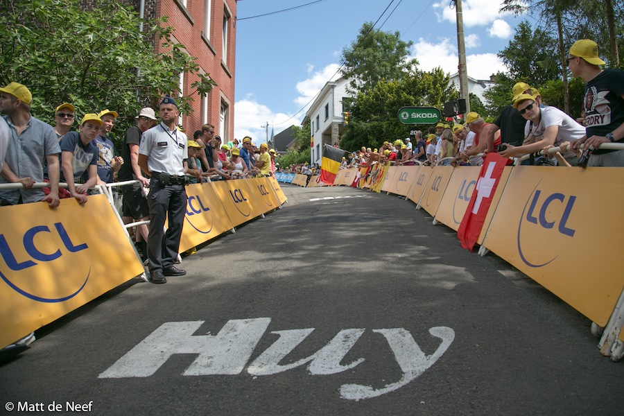 The famous Mur de Huy climb, as featured on stage 3.