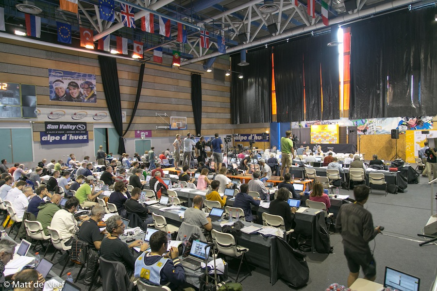 The Alpe d'Huez press centre.