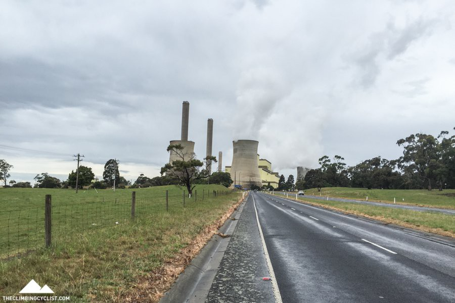 Approaching the Loy Yang Power Station.
