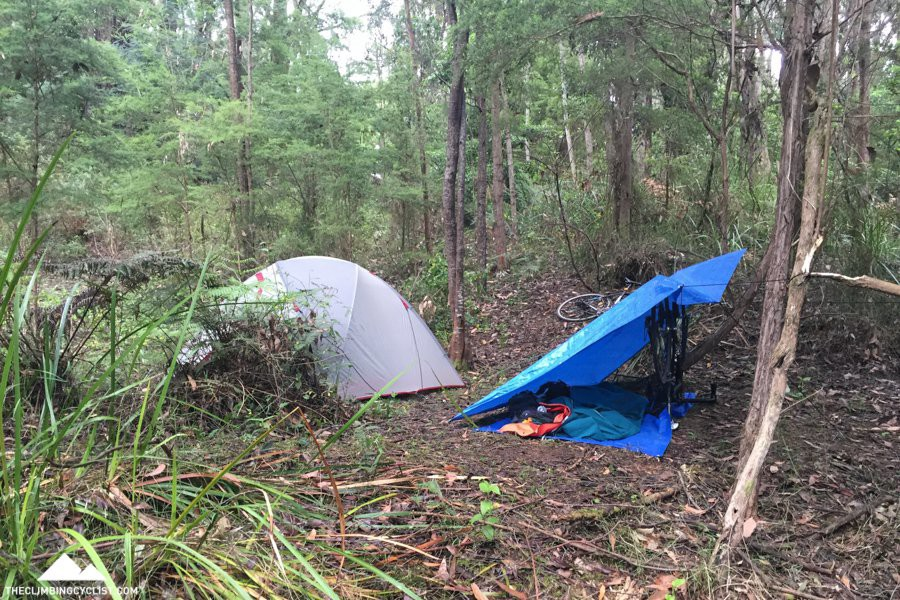 Our camp for night #2, somewhere in the bush.