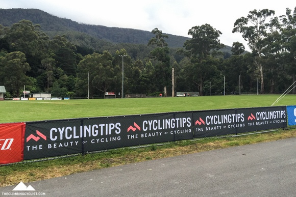 Even seeing CyclingTips branding at the start village in Warburton was strangely satisfying.