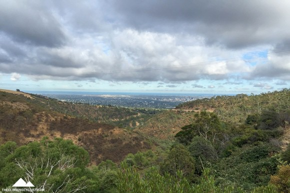 The view over Adelaide from Greenhill Road.