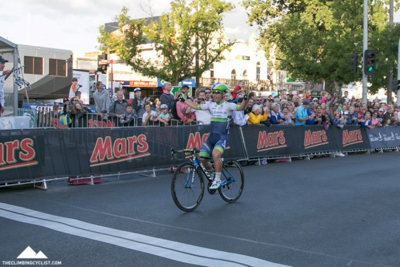 Caleb Ewan, a not-so-surprise winner in the men's criterium.