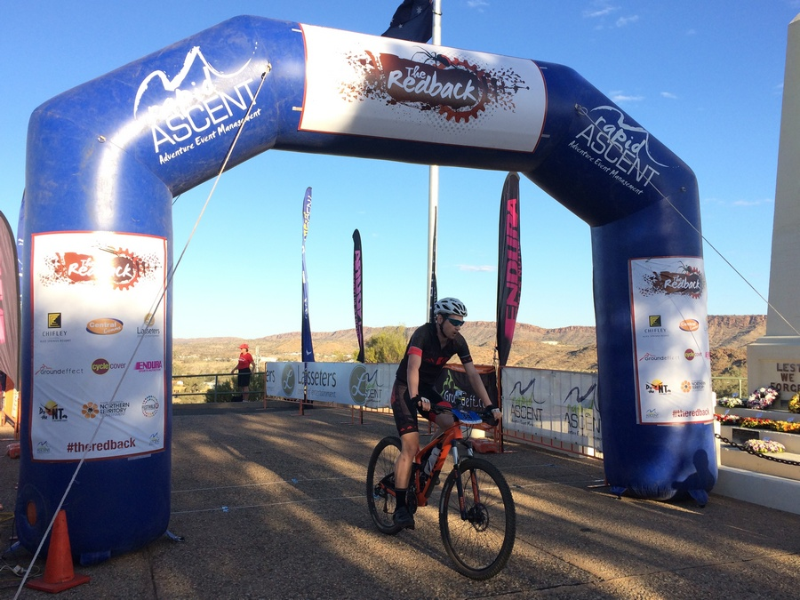 Crossing the line to finish stage 2. (Image: Rapid Ascent)