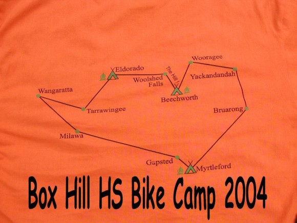 All Bike Campers got a T-shirt with the ride route on the back.