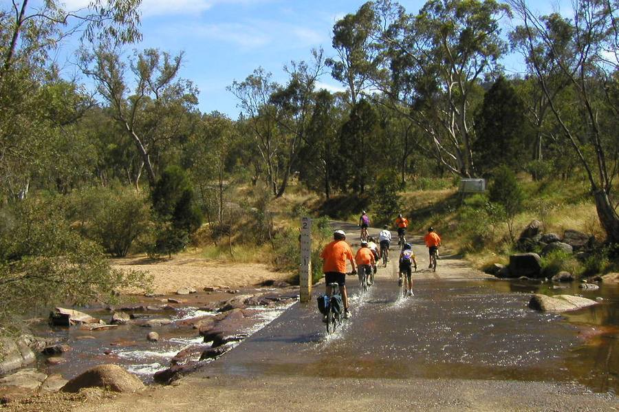 A river crossing on the gravel road between Eldorado and Beechworth.